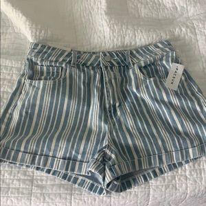 Pacsun Striped Mom Short